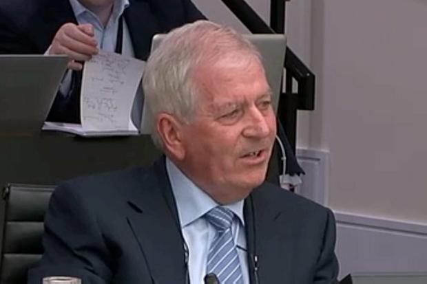 Charlie McCreevy speaking at the inquiry yesterday