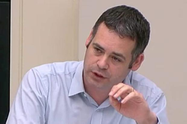 Pearse Doherty questions Charlie McCreevy at the inquiry yesterday
