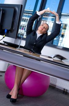 Work out while you work: Health minister Leo Varadkar is encouraging workplace fitness programmes
