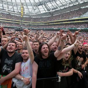 AC/DC fans at The Aviva Stadium in Lansdowne Road, Dublin
