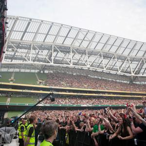 AC/DC in performance at The Aviva Stadium in Lansdowne Road, Dublin