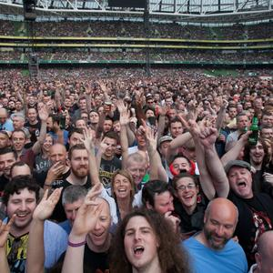 AC/DC fans at The Aviva Stadium in Lansdowne Road, Dublin. Photo: Gareth Chaney Collins