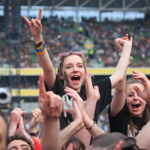 01/07/2015 AC/DC fan Jordan Mulligan 15 from Mullingar at the AC/DC concert in The Aviva Stadium in Lansdowne Road, Dublin. Photo: Gareth Chaney Collins
