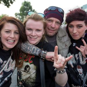 Pictured at The ACDC Concert last night were; Aisling Murray, Katrina Joyce, Angus Friel and Lindsey Tea.