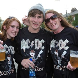 Pictured at The ACDC Concert last night were; Katie Donnegan, Liam Donnegan and Teena Donnegan.