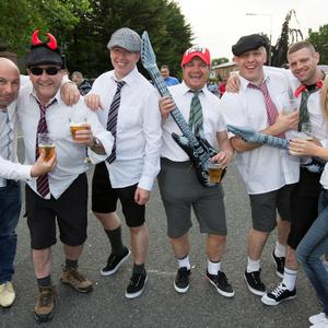 Pictured at The ACDC Concert last night were; Belfast Fans