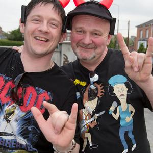 Pictured at The ACDC Concert last night were; Anthony Beale and Liam Power.