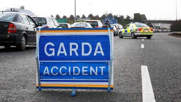 Gardai said they had closed part of the motorway