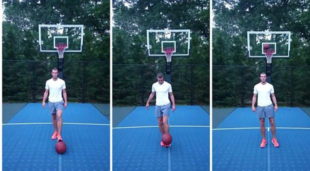 Basket Bale: Welshman nails this cheeky trick shot