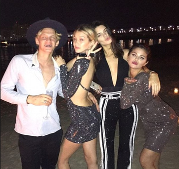 The whole gang: Cody, Gigi, Kendall, Selena