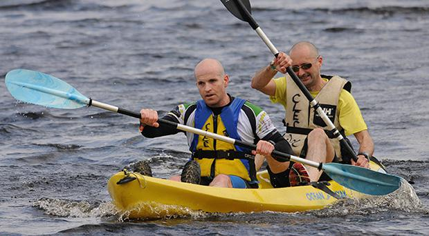 Kayaking on the Gaelforce North adventure race