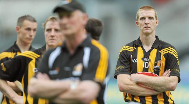 Henry Shefflin, Kilkenny, shows his dissapointment after losing the Leinster final to Galway in 2012
