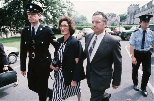 Richard and Teresa Flynn leaving the courthouse
