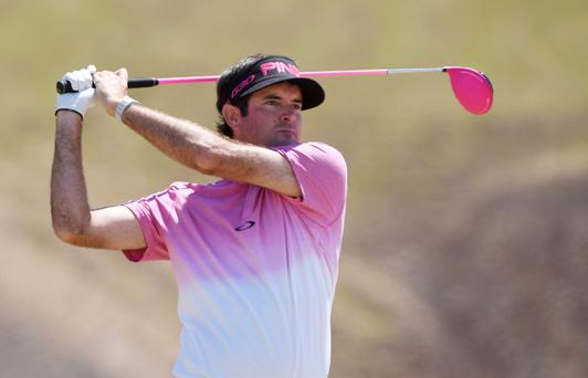 Bubba Watson, fresh off a victory at the Travelers Championship, enjoyed a strong finish to card a two-under 68 that put him into contention ahead of the weekend