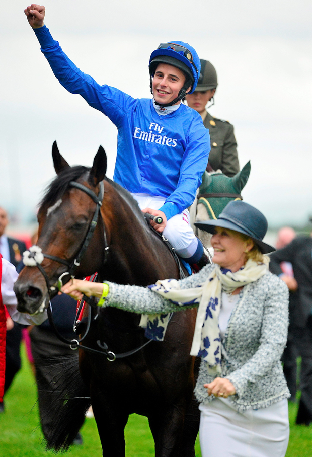 William Buick on Jack Hobbs after winning the Dubai Duty Free Irish Derby last month