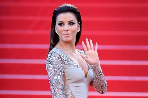 Eva Longoria was a guest on the Late Late Show
