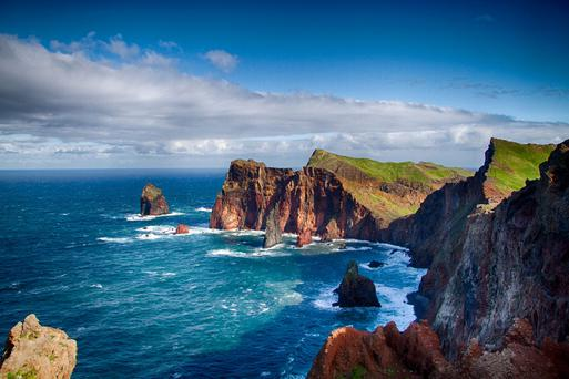 Magnificent: Soak up the panoramic scenery Madeira has to offer from, like the rugged cliffs and unspoilt walks around the coastline overlooking the Atlantic Ocean