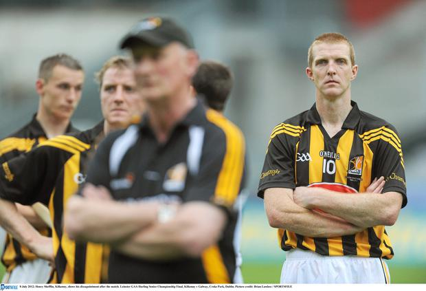Henry Shefflin, Kilkenny, shows his dissapointment after the match. Leinster GAA Hurling Senior Championship Final, Kilkenny v Galway, Croke Park, Dublin. Picture credit: Brian Lawless / SPORTSFILE