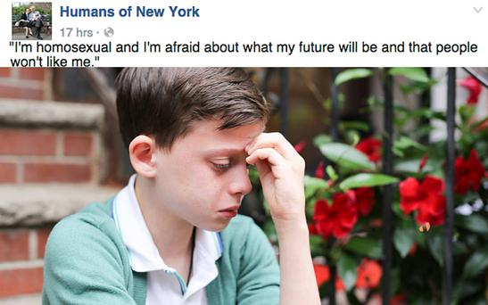 Facebook reportedly took down this since-reinstated Humans of New York photo Photo: Humans of New York/Facebook