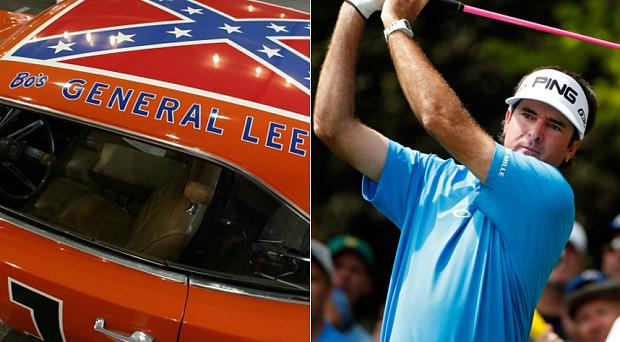Bubba Watson has decided to paint over the Confederate flag on his Dukes of Hazzard car