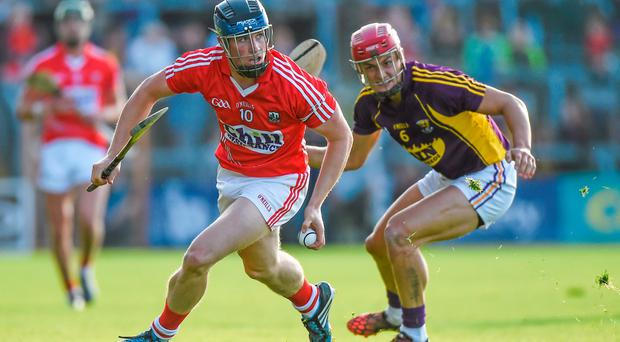 Conor Lehane, Cork, in action against Lee Chin, Wexford. GAA Hurling All-Ireland Senior Championship, Round 1, Wexford v Cork. Innovate Wexford Park, Wexford. Picture credit: Matt Browne / SPORTSFILE