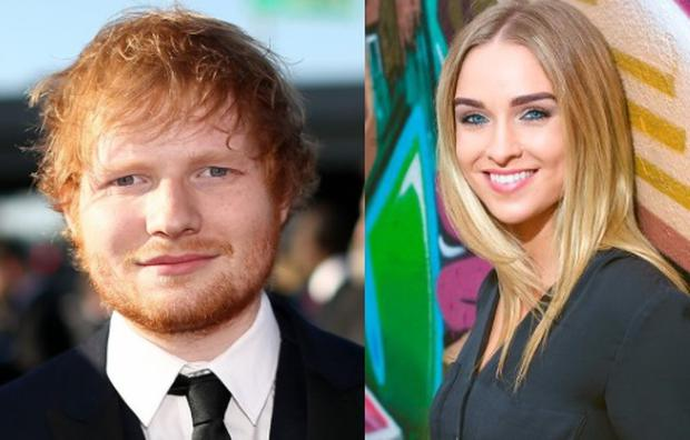 Ed Sheeran (left) and Louise Johnston (right)