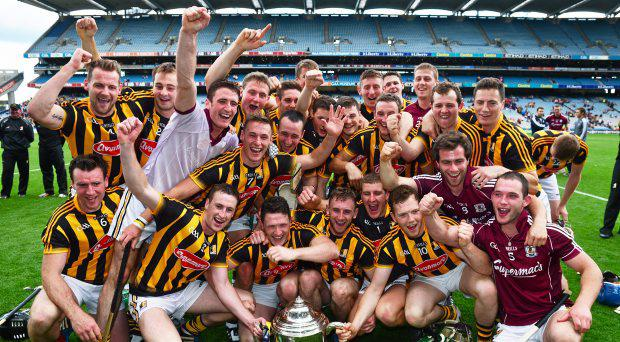 Kilkenny players celebrate with the cup. Leinster GAA Hurling Senior Championship Final