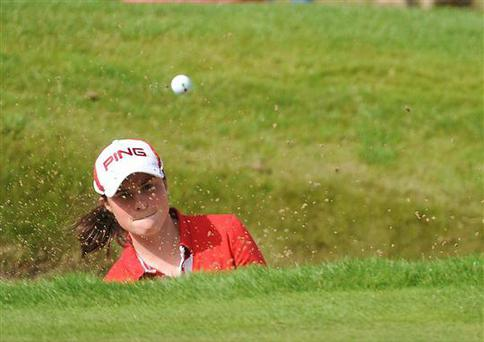 World amateur No 1 Leona Maguire was looking on the bright side despite agonisingly missing out on a chance to force a play-off for the Ladies British Masters at the Buckinghamshire