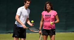 Andy Murray and former coach Amelie Mauresmo