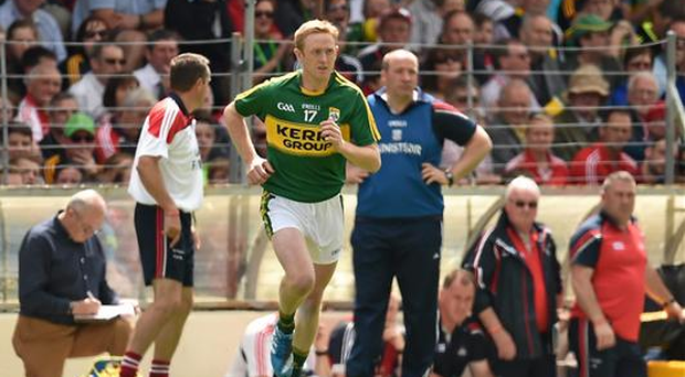 Colm Cooper enters the fray in the second half in Killarney (Sportsfile)