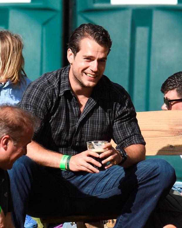 Superman actor Henry Cavill spotted among guests at the Groove Festival 2015 at Kilruddery House in Bray