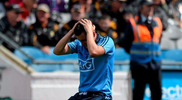A dejected Matthew Oliver, Dublin, after the game