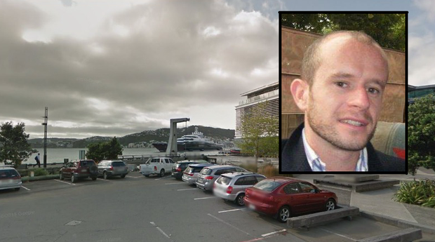 Wellington Harbour, where Galway man Finbarr Clabby was found dead. Inset: Finbarr Clabby