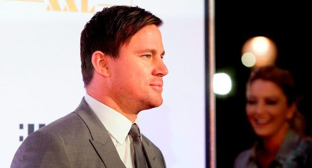 Channing Tatum arrives at the