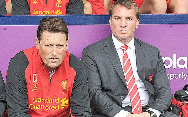 Rodgers with Colin Pascoe (left)