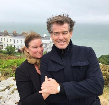 Pierce Brosnan with wife Keeley Pic: Instagram