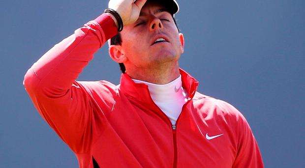 World number one Rory McIlroy seems almost certain to miss the Open after suffering a freak injury resulting in the total rupture of his left ankle ligaments (Brian Lawless/PA Wire)