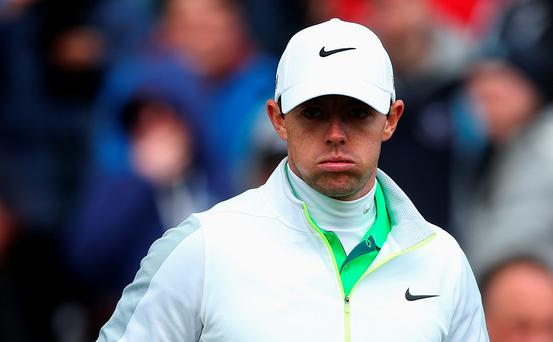 World number one Rory McIlroy has suffered a total rupture of his left ankle ligaments, he has announced on his Twitter account (Brian Lawless/PA Wire)