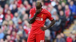 Mario Balotelli endured a tough first season at Liverpool Photo: GETTY IMAGES