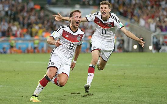 Battle of the big guns: Arsenal and Man Utd reportedly want Mario Gotze Photo: GETTY IMAGES