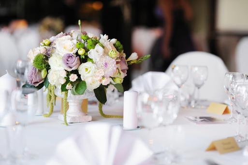 Table set for an event (Stock photo)