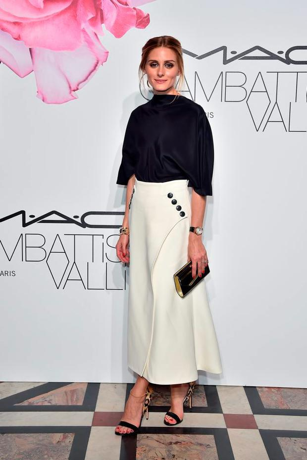 71f37ff0f11 Paris Fashion Week  Olivia Palermo wears a monochrome Giambattista Valli  combination to designer s ball with MAC Cosmetics at the Floral Obsession  Ball.