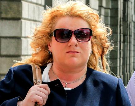 Mary McNicholas, of Kiltimagh, Co. Mayo, leaving the High Court after she lost her personal injuries action for damages. Photo: Courtpix