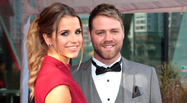 Vogue and Brian McFadden arrive at the Peter Mark VIP Style Awards 2013 at the Marker Hotel Dublin.
