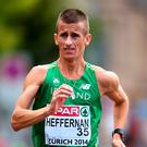 Rob Heffernan proved that he is back in fighting form after surgery for a hernia