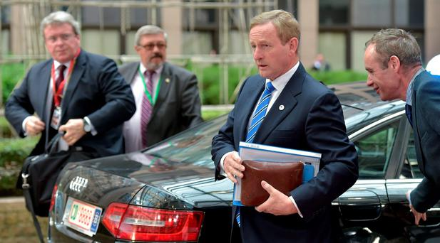 Taoiseach Enda Kenny arrives at the emergency summit in Brussels yesterday. Photo: Reuters