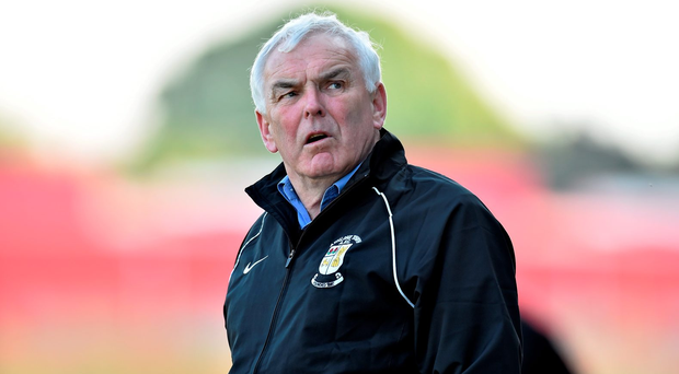 21 April 2014; Athlone Town manager Mick Cooke. Airtricity League Premier Division, Athlone Town v Dundalk, Athlone Town Stadium, Athlone, Co. Westmeath. Picture credit: David Maher / SPORTSFILE