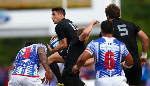 Dan Carter was in impressive form for the All Blacks
