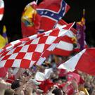 The Confederate flag flying during a Cork game in 2004
