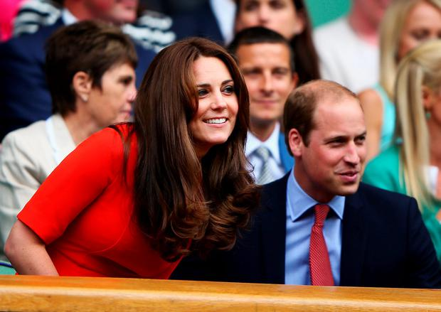 Catherine, Duchess of Cambridge and Prince William, Duke of Cambridge attend day nine of the Wimbledon Lawn Tennis Championships at the All England Lawn Tennis and Croquet Club on July 8, 2015 in London, England. (Photo by Ian Walton/Getty Images)